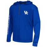 Colosseum Athletics™ Boys' University of Kentucky Sleet 1/4 Zip Hoodie Windshirt