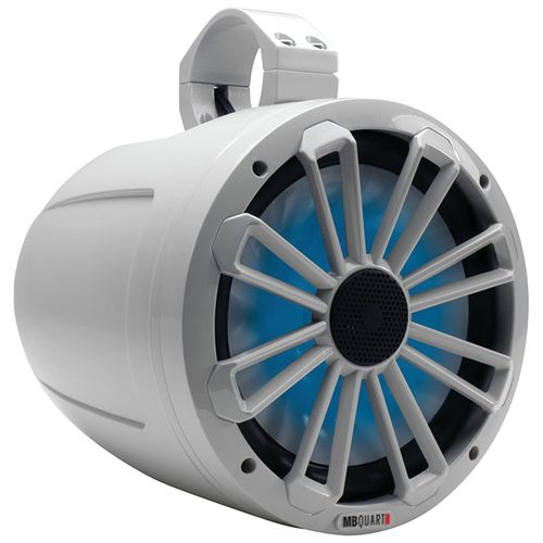 "MB Quart Nautic Series 140W 8"" 2-Way Wake Tower Marine Speaker with LED Illumination"