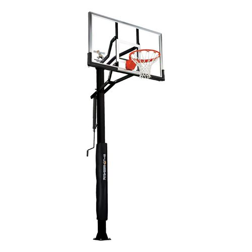 Silverback 60 in Inground Tempered-Glass Basketball Hoop