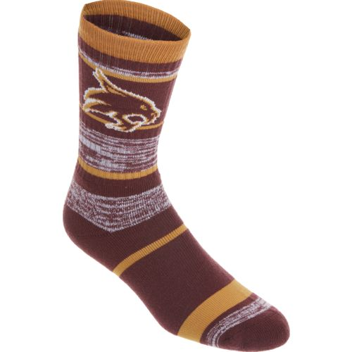For Bare Feet Men's Texas State University Stripe Athletic Crew Socks
