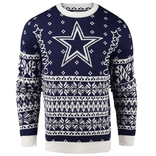 Team Beans Men's Dallas Cowboys Lightweight Ugly Christmas Sweater