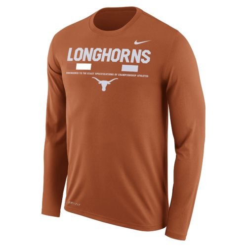 Nike™ Men's University of Texas Dry Legend Long Sleeve Staff T-shirt