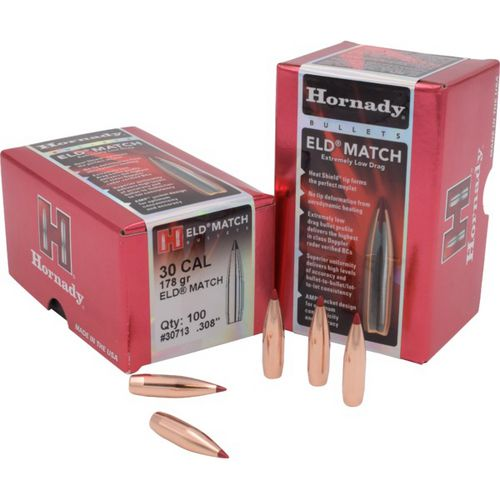 Hornady ELD Match 30 .308 208-Grain Rifle Bullets