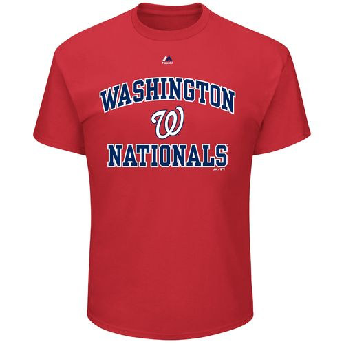 Majestic Men's Washington Nationals Heart and Soul III Basic Short Sleeve T-shirt