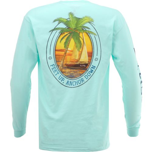 Salt Life Men's Feet Up Anchor Down Long Sleeve T-shirt
