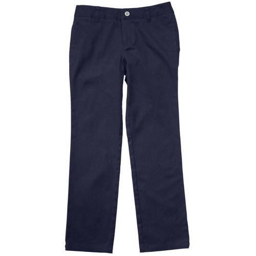 French Toast Girls' Plus Size Straight Leg Twill Pant