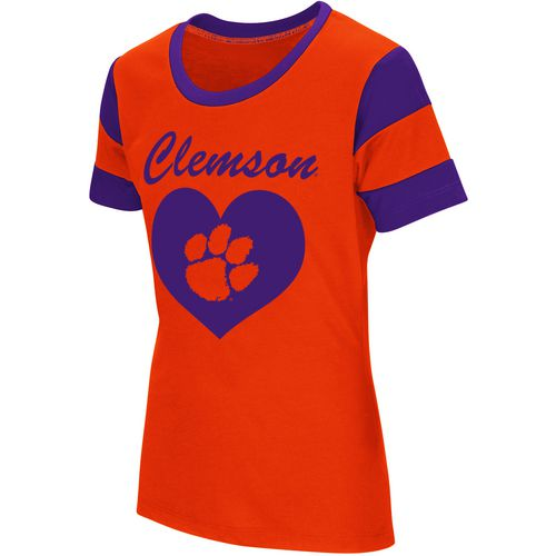 Colosseum Athletics Girls' Clemson University Bronze Medal Short Sleeve T-shirt