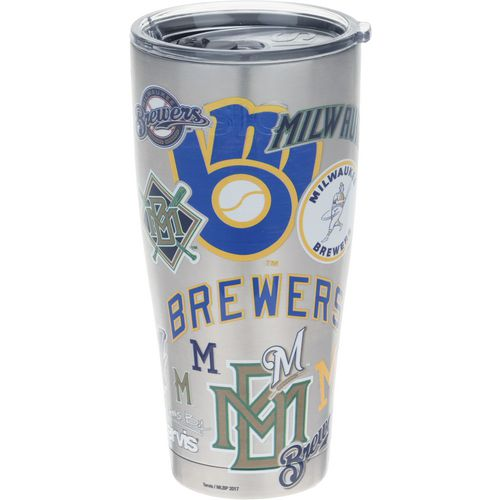 Tervis Milwaukee Brewers All Over 30 oz Stainless-Steel Tumbler