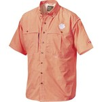 Drake Waterfowl Men's Clemson University Gameday Wingshooter's Short Sleeve Button-Down Shir - view number 1