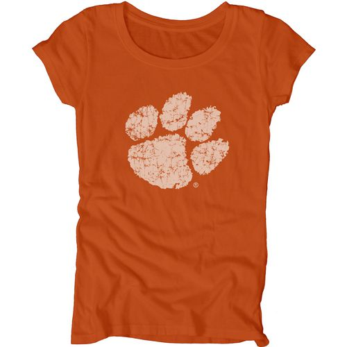 Blue 84 Juniors' Clemson University Mascot Soft T-shirt