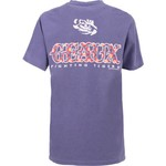 New World Graphics Women's Louisiana State University Comfort Color Initial Pattern T-shirt - view number 1