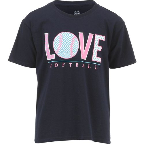 Raw State Girls' Love Softball T-shirt