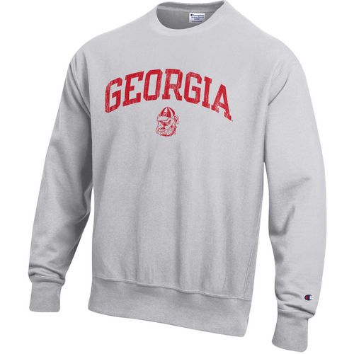 Champion Men's University of Georgia Reverse Weave Crew Sweatshirt