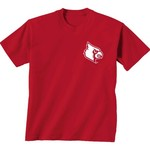 New World Graphics Women's University of Louisville Comfort Color Initial Pattern T-shirt - view number 2