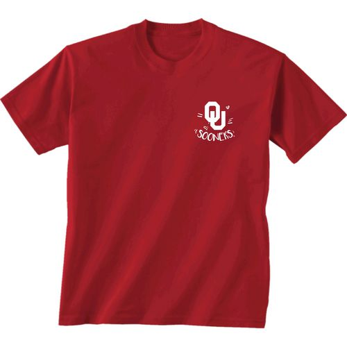New World Graphics Girls' University of Oklahoma Where the Heart Is Short Sleeve T-shirt - view number 2
