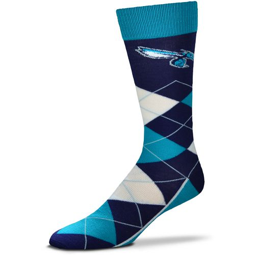 For Bare Feet Charlotte Hornets Argyle Socks
