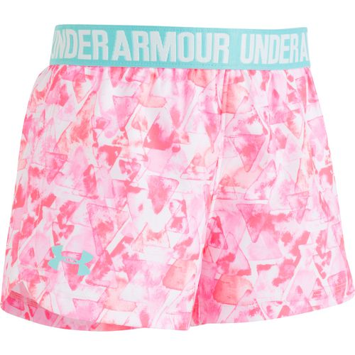 Under Armour Girls' Aqua Geo Print Triangles Play Up Shorts