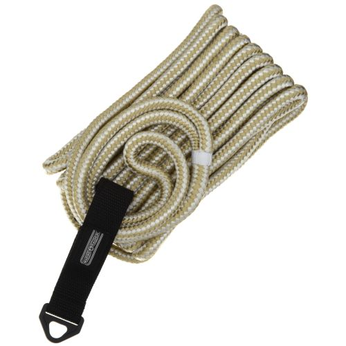 "Marine Raider 1/2"" x 25' White/Gold Double-Braided Dock Line"