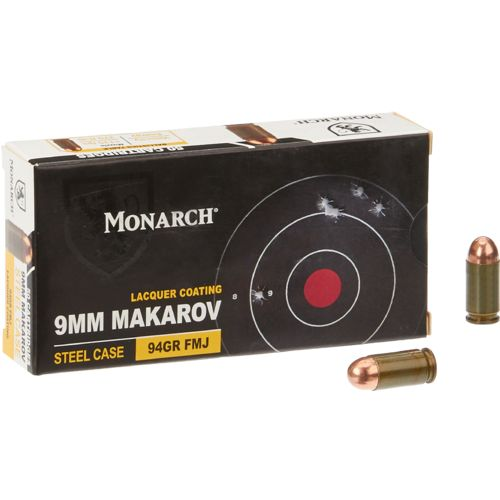 Monarch® FMJ 9 x 18 mm Makarov 94-Grain Pistol Ammunition