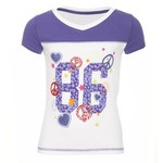 BCG™ Girls' Football V-neck Graphic T-shirt