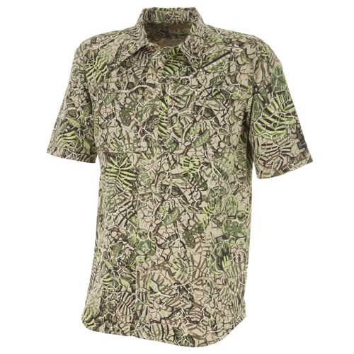 Brush Country Camouflage Men's Short Sleeve Zip Pocket Shirt