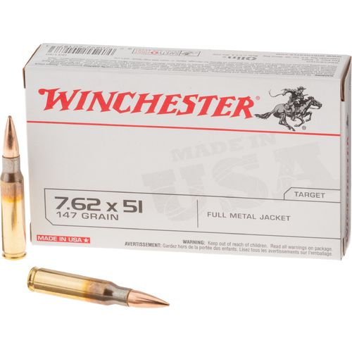 Winchester 7.62 x 51mm NATO 147-Grain Centerfire Rifle Ammunition