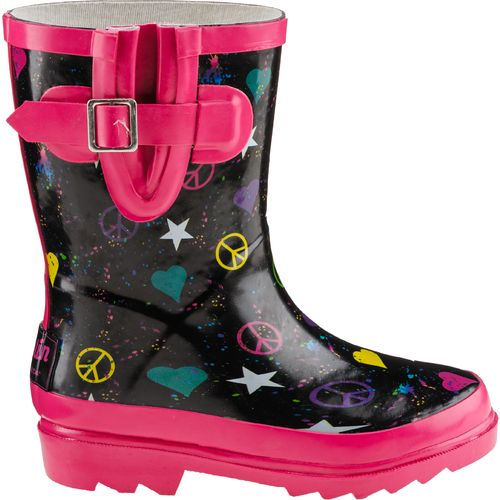 Austin Trading Co.  Girls  Punky Symbols Rubber Boots