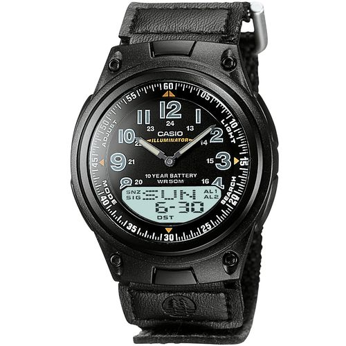 Casio Men's Classic World Time Data Bank Analog/Digital Watch