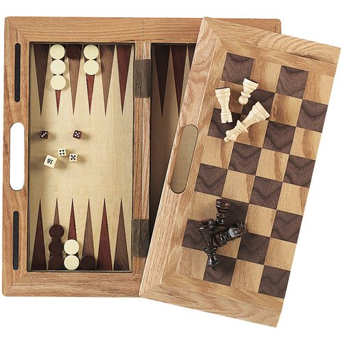 Mainstreet Classics 3-in-1 Wood Game Set