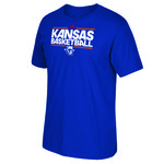 adidas Adults' University of Kansas Retro Dribbler T-shirt