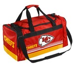 Forever Collectibles™ Kansas City Chiefs Medium Striped Core Duffel Bag