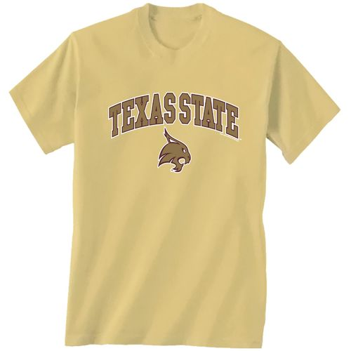 New World Graphics Men's Texas State University Arch Mascot T-shirt