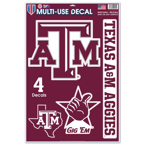 Wincraft texas am university multiuse decals 4 pack