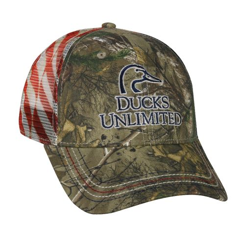 Ducks Unlimited Men's Patriotic Trucker Cap