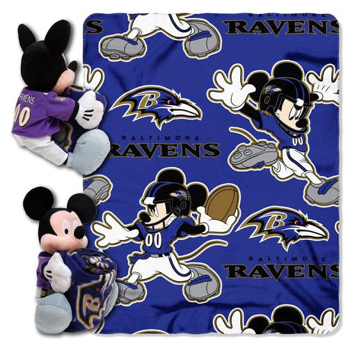 The Northwest Company Baltimore Ravens Mickey Mouse Hugger and Fleece Throw Set - view number 1