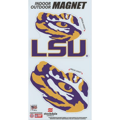 Stockdale Louisiana State University Logo Magnets 2-Pack