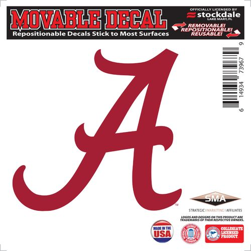 "Stockdale University of Alabama 6"" x 6"" Decal"
