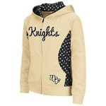 Colosseum Athletics Girls' University of Central Florida Polka Poly Fleece Hoodie
