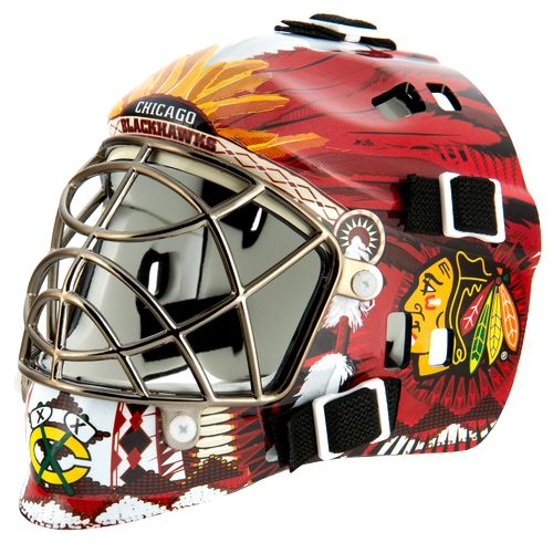 Franklin NHL Team Series Chicago Blackhawks Mini Goalie Mask - view number 1
