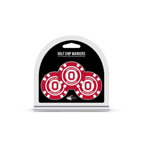 Team Golf Ohio State University Poker Chip and Golf Ball Marker Set