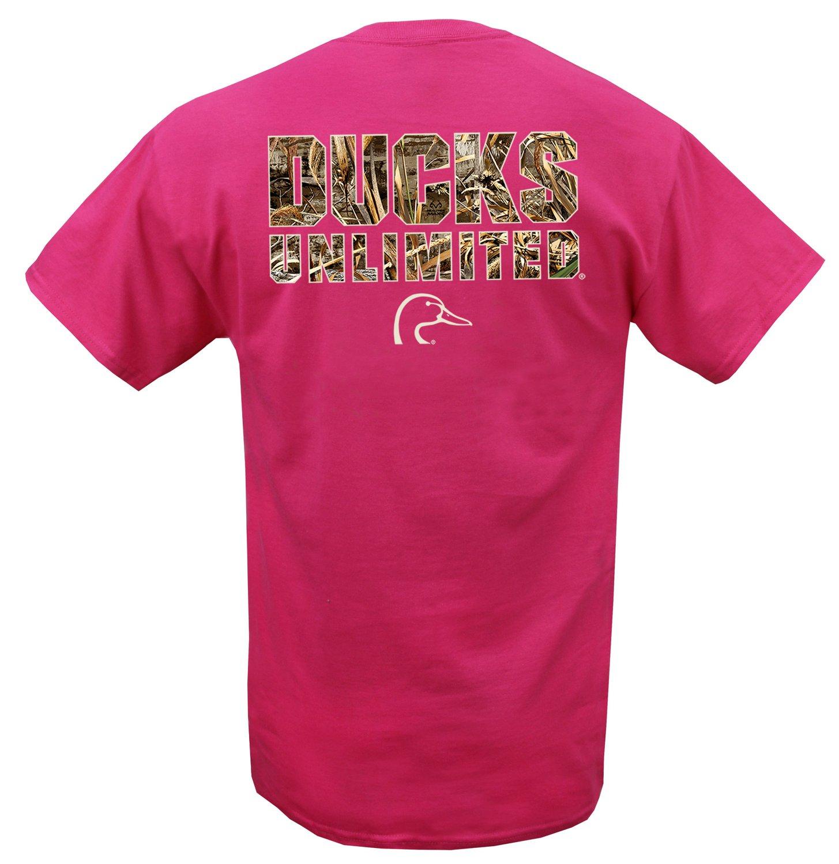 Ducks Unlimited Men's Camo Wordmark Short Sleeve T-shirt