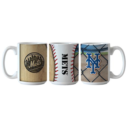 Boelter Brands New York Mets Ballpark Coffee Mugs 2-Pack