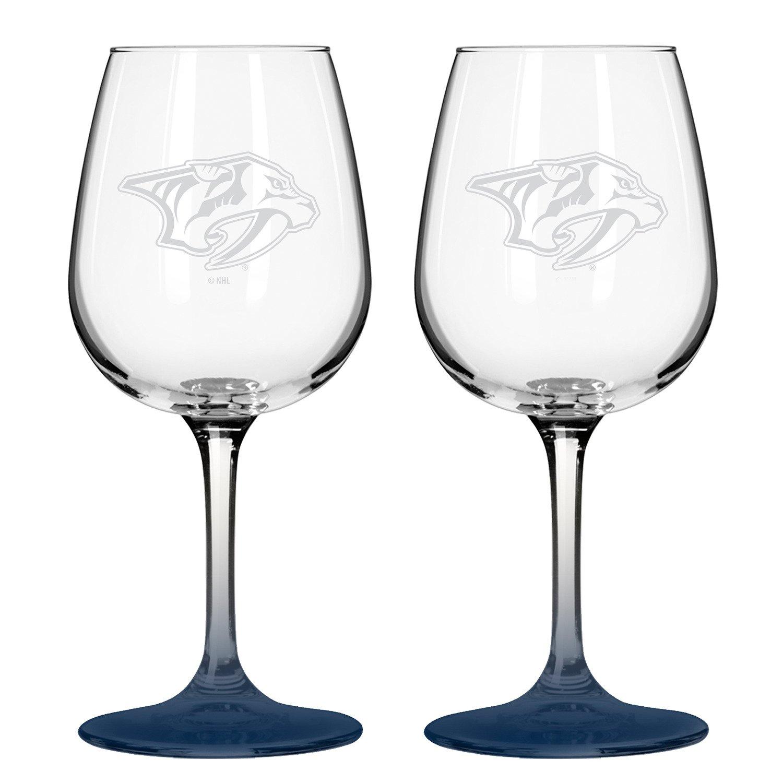 Boelter Brands Nashville Predators 12 oz. Wine Glasses 2-Pack for sale
