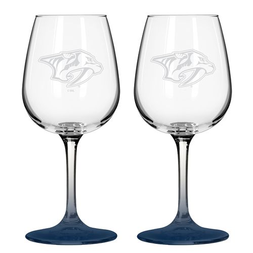 Boelter Brands Nashville Predators 12 oz. Wine Glasses 2-Pack