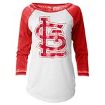 5th & Ocean Clothing Juniors' St. Louis Cardinals Floral Raglan T-shirt