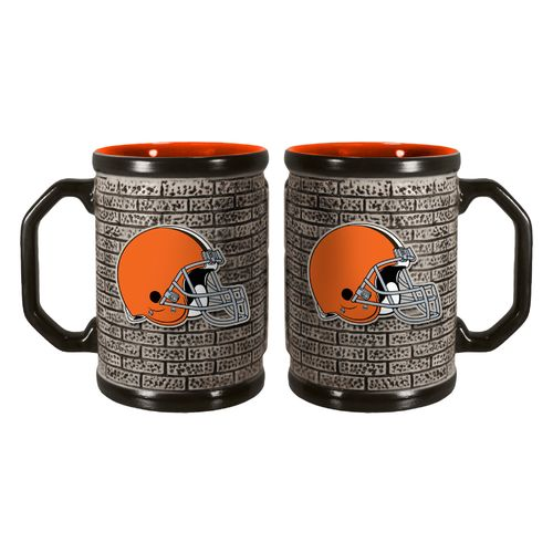 Boelter Brands Cleveland Browns Stone Wall 15 oz. Coffee Mugs 2-Pack