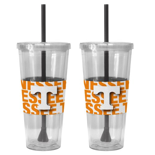 Boelter Brands University of Tennessee Bold Neo Sleeve 22 oz. Straw Tumblers 2-Pack
