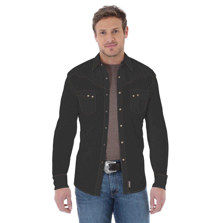 Wrangler® Men's Retro® Long Sleeve Spread Collar Shirt