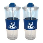 Boelter Brands University of Arizona 22 oz. No-Spill Straw Tumblers 2-Pack