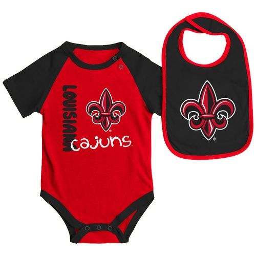 Colosseum Athletics Infants' University of Louisiana at Lafayette Rookie Onesie and Bib Set